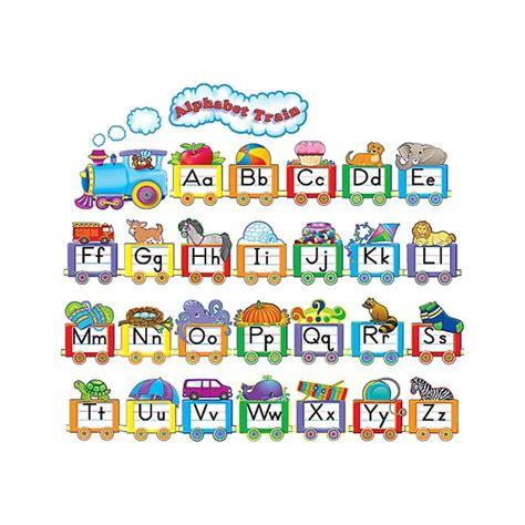alphabet train bulletin board display set tcr