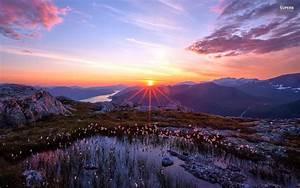Cool Beautiful Alpine Sunrise HD Desktop Wallpaper ...