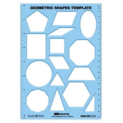 geometry template geometric shapes template manip u view common state standards eai education