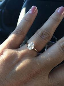How perfect of a ring! Simple. Solitaire OVAL diamond with ...