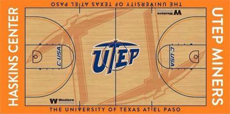 utep unveils  subtle  distinctive  basketball floor