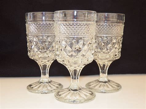 Vintage Glassware Anchor Hocking Wexford Set Of Three