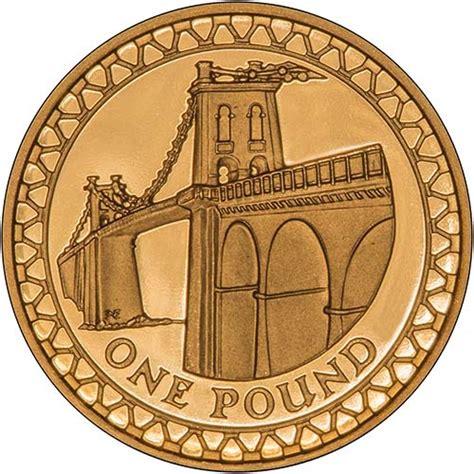 Buy a 2005 Menai Straits Bridge £1 Gold Proof Chard