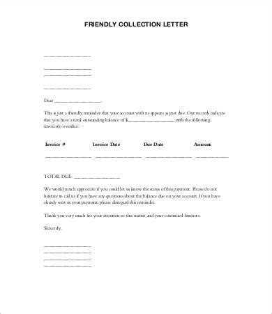 collection letter template collection letters sles collection letters 10free word 11219