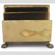 Vintage Brass Footed Letter Holdermail Sorter By City