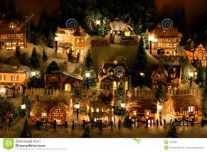 miniature christmas village stock photo image 342384