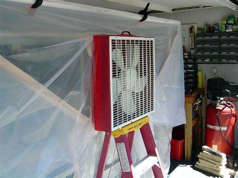 create  paint booth   garage paint booth diy