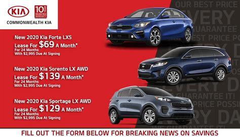 Lease new 2020 Kias at great prices at Commonwealth Kia ...