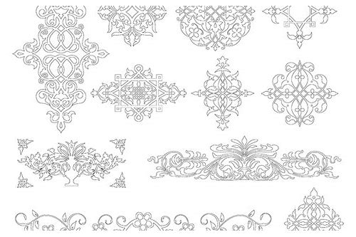 free damask stencil download