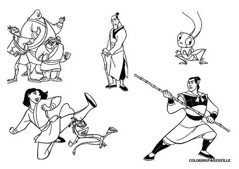 Mulan Free Coloring Pages