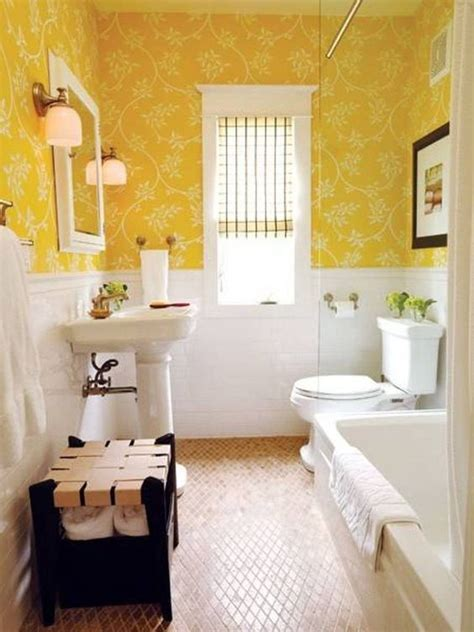 bright ambiance   bathroom  yellow color decohoms