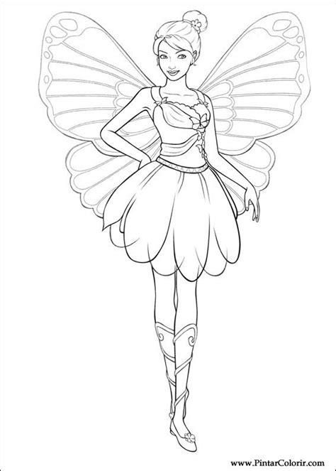 drawings  paint colour barbie mariposa print design