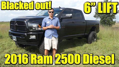 blacked   lifted custom  ram  cummins diesel