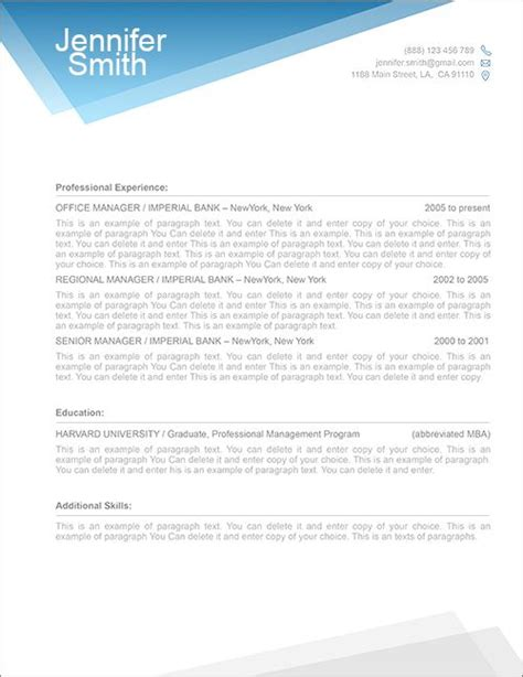 Cover Page Template For Resume by Free Resume Template 1100040 Premium Line Of Resume