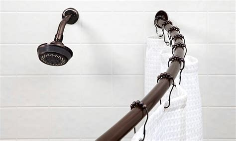 22 99 for a 72 quot curved shower curtain rod groupon