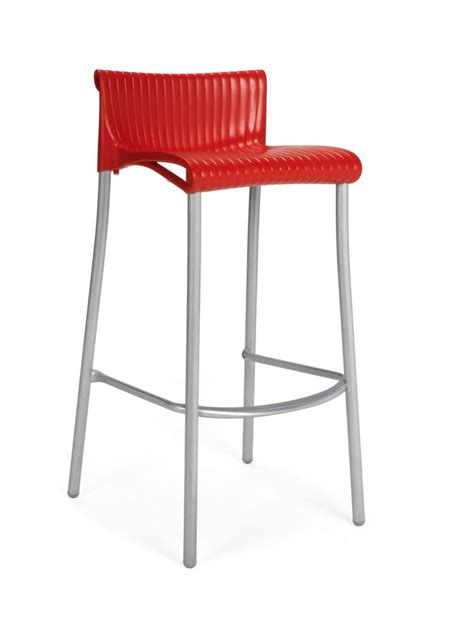 nardi paquet de 4 chaises de bar duca empilables en r 233 sine
