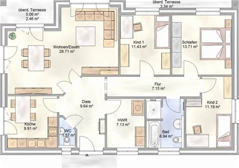 Bungalow Grundrisse 4 Zimmer by Bungalow Grundriss 4 Zimmer Frisch Grundriss Bungalow 120