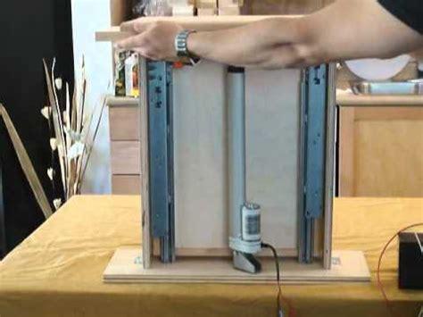 automated spice rack  linear actuators progressive