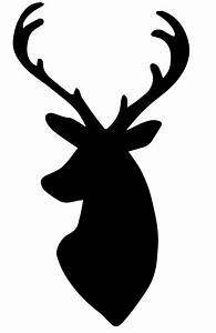 Deer Head Silhouette | Clip art and Graphics | Pinterest