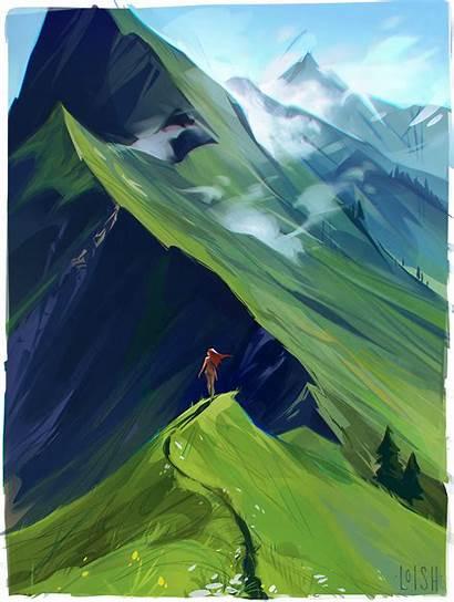 Loish Mountain Patreon Rough Support