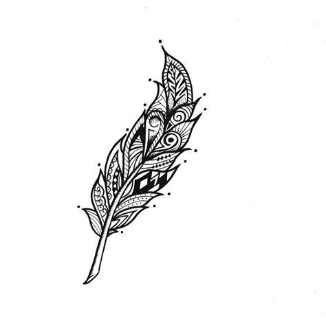 tatouage temporaire en forme de plume tatouage
