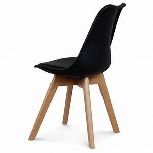 Chaises Scandinaves Noires : chaise style scandinave noire toundra demeure et jardin ~ Teatrodelosmanantiales.com Idées de Décoration