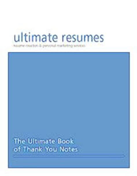 writing the ultimate thank you note a book of sle