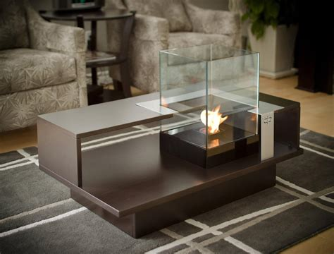 table with fireplace fire pit coffee table indoor fire pit design ideas