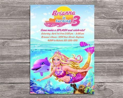 94 Barbie Mermaid Birthday Invitations
