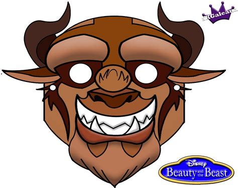 building a masked beast des free printable mask of beast from and the
