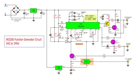 xr function generator circuit eleccircuitcom