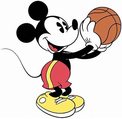 Mickey Basketball Mouse Classic Clip Disney Playing