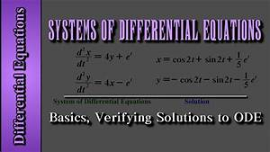 Differential Equations  Systems Of Differential Equations