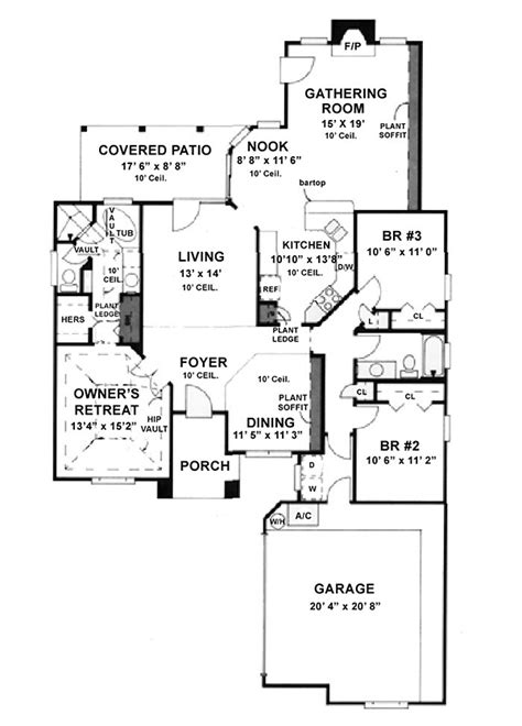 House Plan 53226 with 1750 Sq Ft 3 Bed 2 Bath