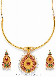 One Gram Gold Attigai Necklace with Price ~ South India Jewels