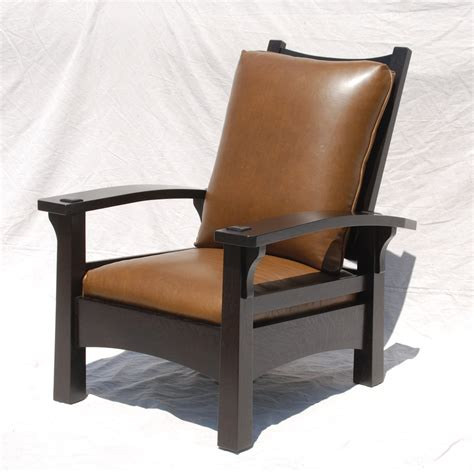 Stickley Morris Chair Reproduction by Voorhees Craftsman Mission Oak Furniture Replica Gustav