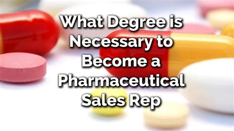 how to become a pharmaceutical rep what degree is necessary to become a pharmaceutical sales