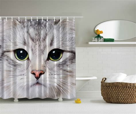 cat shower curtain the purrfect gifts for cat lovers
