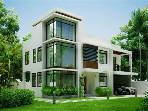 White Modern Contemporary House Plans — Modern House Plan