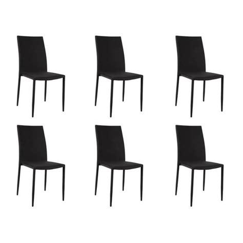 lot de 6 chaises noires loola lot 6 chaises noires achat vente chaise salle a