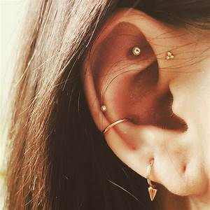 Conch, forward helix and Tash Rook piercings # ...