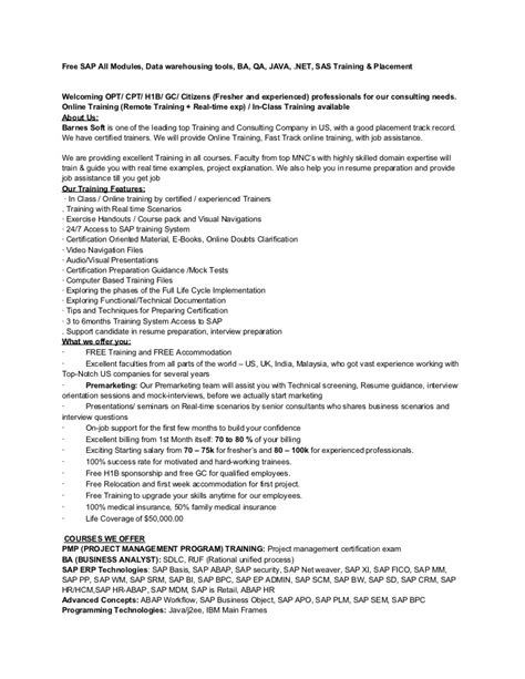 Business Objects Lead Resume by Sle Resume For Business Objects Developer