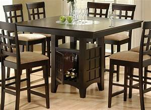 Rich Cappuccino Counter Height Table Counter Height Tables