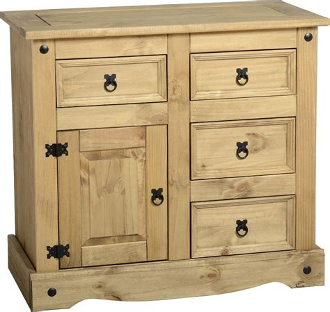 Corona Mexican Pine Sideboard by Mexican Pine Corona 1 Door 4 Drawer Sideboard Free Next