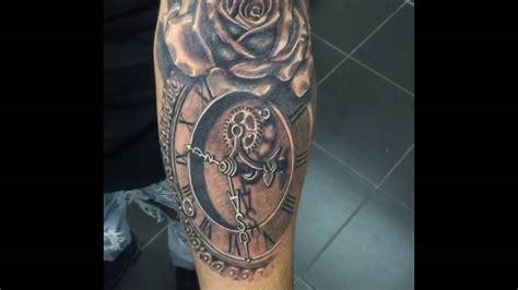rose  clock tattoo youtube