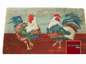 Roosters Kitchen Rug