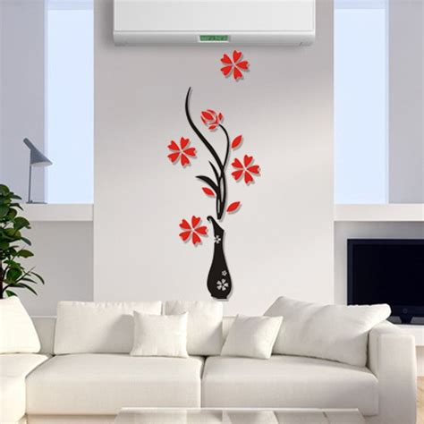 plum vase wall stickers home decor creative wall decals