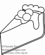 Cheesecake Coloring Clipart Cherry Clip Illustration 1701 1101 Acclaimimages sketch template