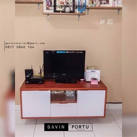 credenza tv minimalis credenza tv minimalis untuk klien di perumahan asri kreo