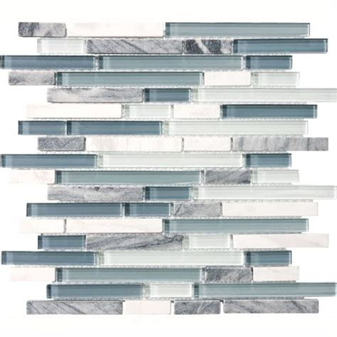eclipse marina linear glass and mosaic tile